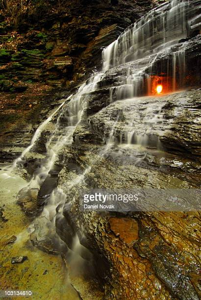 eternal flame falls, chestnut ridge park - eternal flame stock photos and pictures