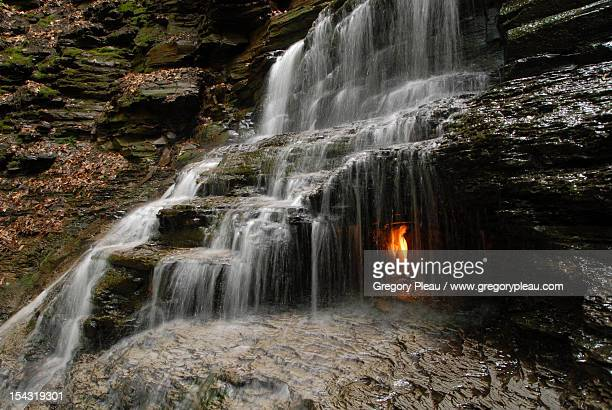 eternal flame falls - eternal flame stock photos and pictures