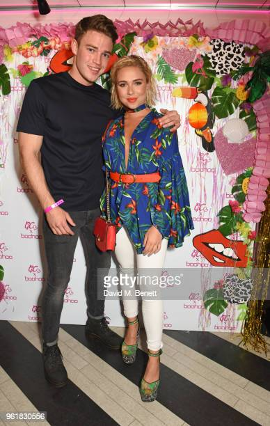 Ethan Allen and Gabby Allen attend the cocktail launch party to celebrate the Gemma Collins X Boohoo Collection at Tonight Josephine on May 23 2018...