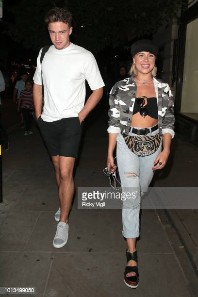 Ethan Allen and Gabby Allen seen on a night out after dinner at Chotto Matte on August 8 2018 in London England