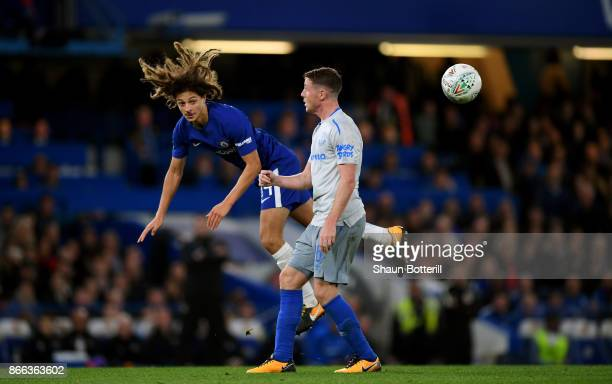Ethan Ampadu of Chelsea and James McCarthy of Everton in action during the Carabao Cup Fourth Round match between Chelsea and Everton at Stamford...