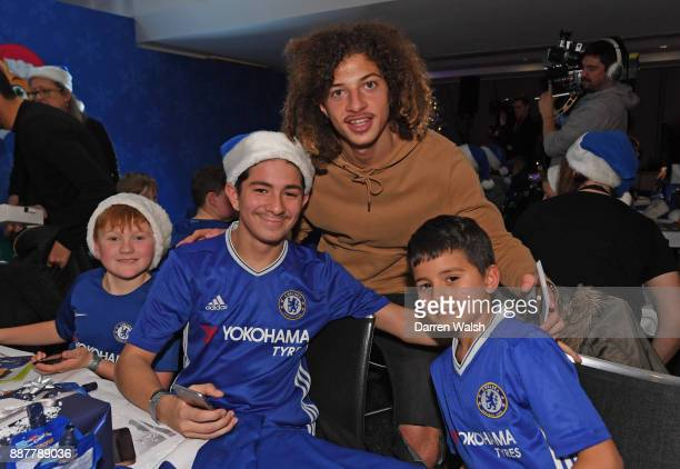 Ethan Ampadu of Chelsea at the Chelsea FC kids Christmas party December 7 2017 in London England