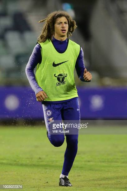 Ethan Ampadu of Chelsea during a Chelsea FC training session at The WACA on July 21 2018 in Perth Australia