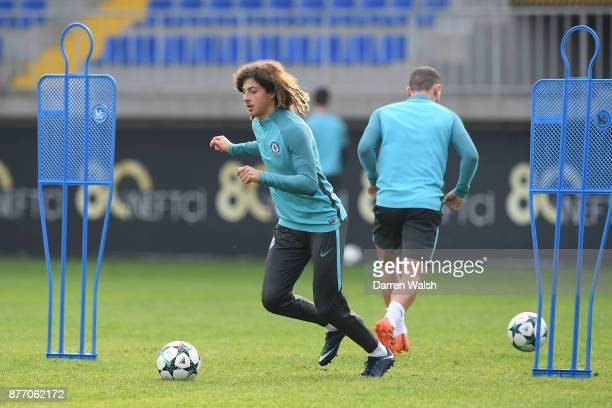 Ethan Ampadu of Chelsea during a training session at Bakcell Arena on November 21 2017 in Baku Azerbaijan