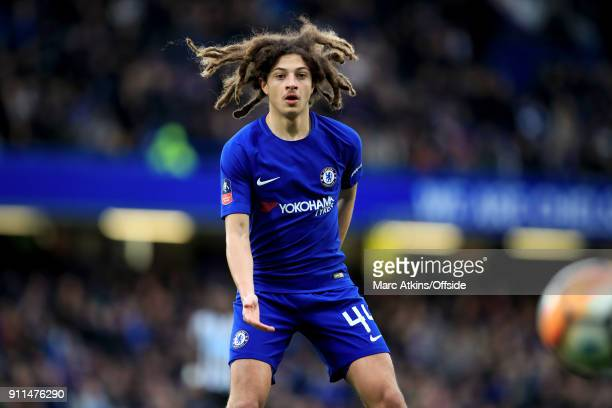 Ethan Ampadu of Chelsea during the FA Cup 4th Round match between Chelsea and Newcastle United at Stamford Bridge on January 28 2018 in London United...
