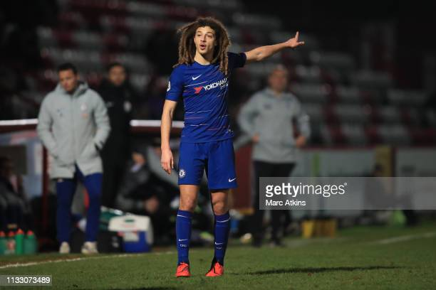 Ethan Ampadu of Chelsea during the Premier League 2 match between Tottenham Hotspur and Chelsea at The Lamex Stadium on March 01 2019 in Stevenage...