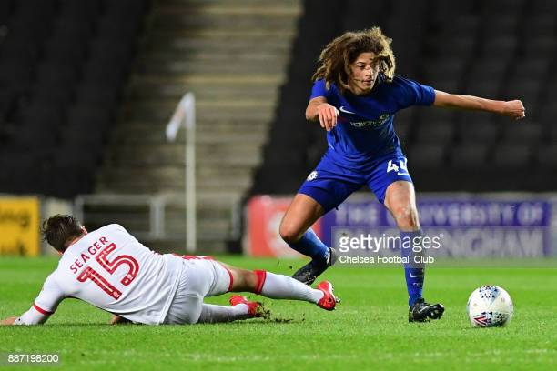 Ethan Ampadu of Chelsea during the Second Round Checkatrade Trophy Match between MK Dons and Chelsea FC at StadiumMK on December 6 2017 in Milton...