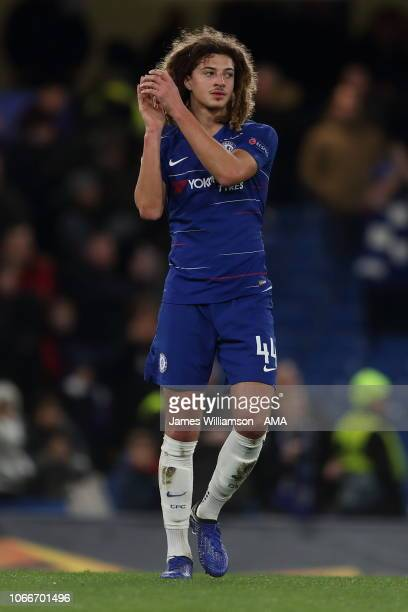 Ethan Ampadu of Chelsea during the UEFA Europa League Group L match between Chelsea and PAOK at Stamford Bridge on November 29 2018 in London United...