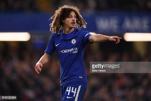 Ethan Ampadu of Chelsea in action during The Emirates FA Cup Fifth Round match between Chelsea and Hull City at Stamford Bridge on February 16 2018...