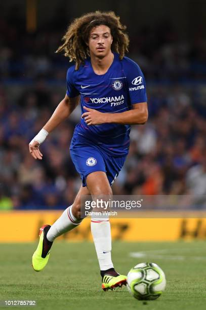 Ethan Ampadu of Chelsea in action during the preseason friendly match between Chelsea and Lyon at Stamford Bridge on August 7 2018 in London England