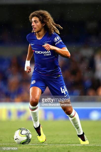 Ethan Ampadu of Chelsea in action during the preseason friendly match between Chelsea and Olympique Lyonnais at Stamford Bridge on August 7 2018 in...