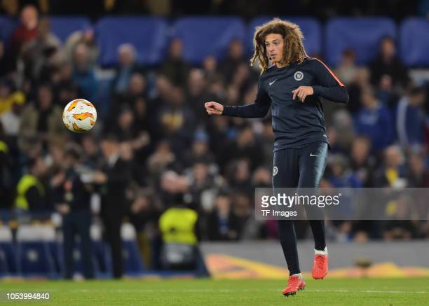 Ethan Ampadu of Chelsea in action prior the UEFA Europa League Group L match between Chelsea and Vidi FC at Stamford Bridge on October 4 2018 in...