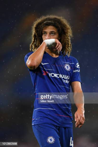 Ethan Ampadu of Chelsea looks on during the preseason friendly match between Chelsea and Lyon at Stamford Bridge on August 7 2018 in London England