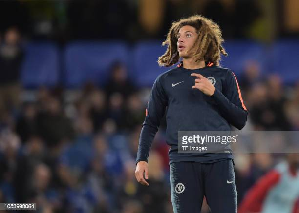 Ethan Ampadu of Chelsea looks on prior the UEFA Europa League Group L match between Chelsea and Vidi FC at Stamford Bridge on October 4 2018 in...