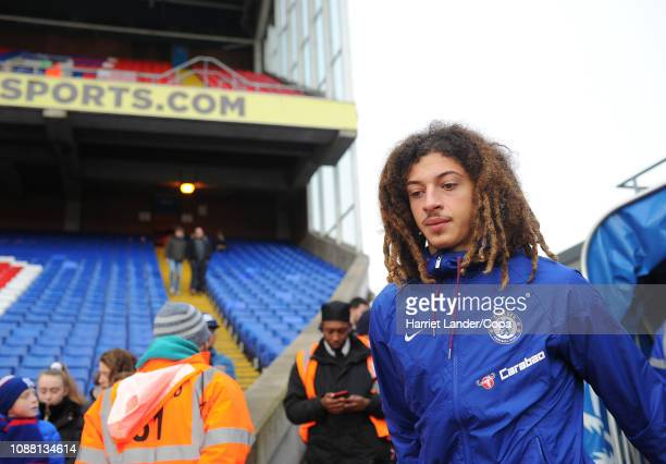 Ethan Ampadu of Chelsea looks on prior to the Premier League match between Crystal Palace and Chelsea FC at Selhurst Park on December 30 2018 in...