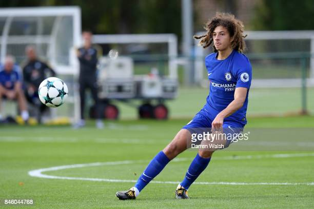 Ethan Ampadu of Chelsea U19's during the UEFA Youth Champions League group C match between Chelsea FC and Qarabag FK at Chelsea Training Ground on...