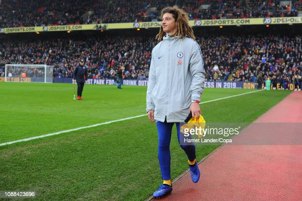 Ethan Ampadu of Chelsea walks out prior to the Premier League match between Crystal Palace and Chelsea FC at Selhurst Park on December 30 2018 in...