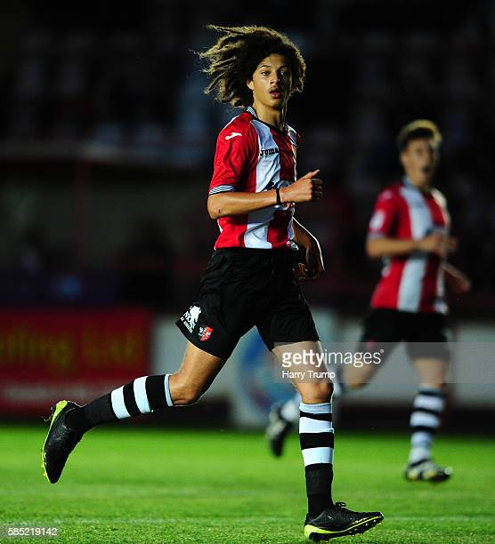 Ethan Ampadu of Exeter City during the Pre Season Friendly match between Exeter City and Cardiff City at St James Park on July 28 2016 in Exeter...