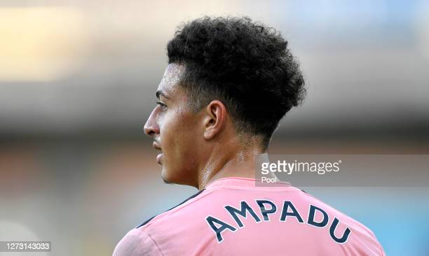 Ethan Ampadu of Sheffield United looks on during the Carabao Cup second round match between Burnley and Sheffield United at Turf Moor on September 17...
