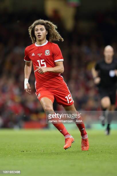 Ethan Ampadu of Wales during the International Friendly match between Wales and Spain on October 11 2018 in Cardiff United Kingdom