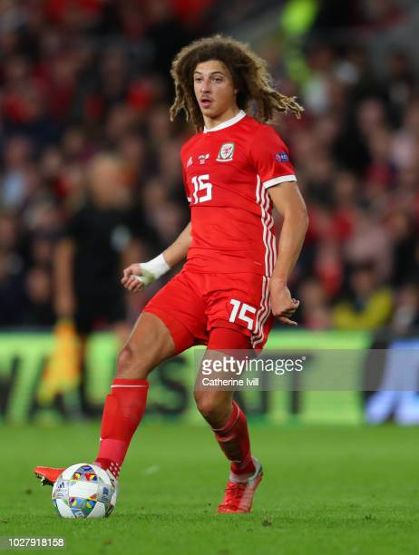 Ethan Ampadu of Wales during the UEFA Nations League B group four match between Wales and Republic of Republic of Ireland at Cardiff City Stadium on...