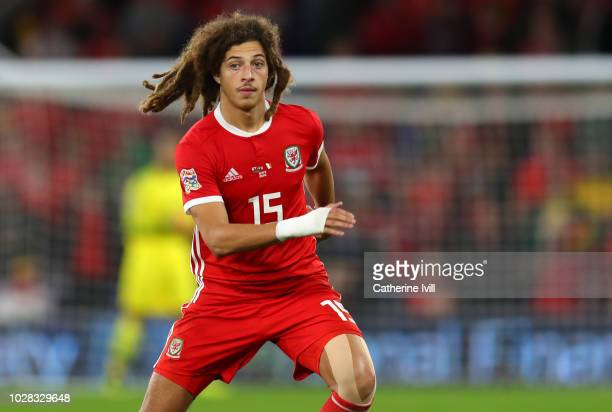 Ethan Ampadu of Wales during the UEFA Nations League B group four match between Wales and Republic of Ireland at Cardiff City Stadium on September 6...
