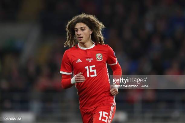 Ethan Ampadu of Wales during the UEFA Nations League B group four match between Wales and Denmark at Cardiff City Stadium on November 16 2018 in...