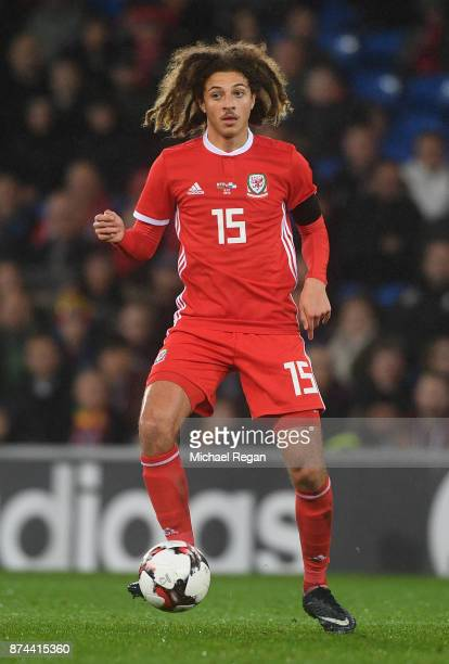 Ethan Ampadu of Wales in action during the International match between Wales and Panama at Cardiff City Stadium on November 14 2017 in Cardiff Wales