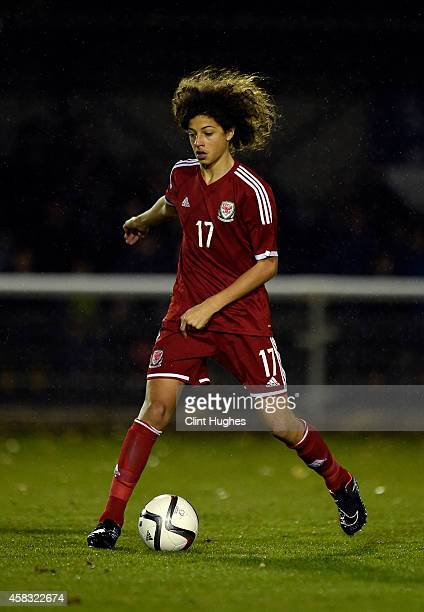 Ethan Ampadu of Wales U16 in action during the Victory Shield match between Wales U16 and England U16 at the Book People Stadium on October 31 2014...