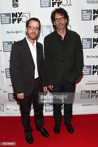 Ethan and Joel Coen attend the Inside Lleywn Davis permiere during the 51st New York Film Festival at Alice Tully Hall at Lincoln Center on September...