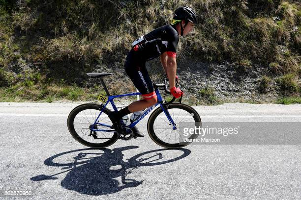Ethan Batt of Nelson Mike Greer Homes makes the climb to Coronet Peak during stage 3 from Mossburn to Coronet Peak during the 2017 Tour of Southland...