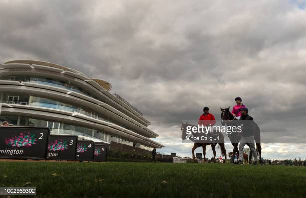Ethan Brown after riding Al Passem to win Race 7 during Melbourne Racing at Flemington Racecourse on July 21 2018 in Melbourne Australia