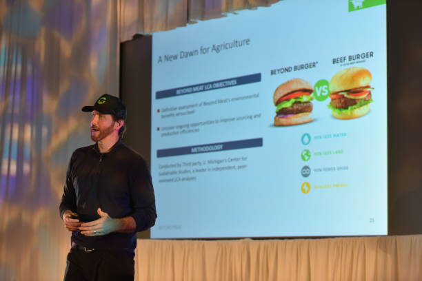 Ethan Brown CEO of Beyond Meat talks during the Unlocking the Future of Protein Speaker Series at the Wellness Your Way Festival at the Colorado...