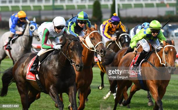 Ethan Brown riding Kakanui wins Race 5 during Melbourne Racing at Moonee Valley Racecourse on December 15 2017 in Melbourne Australia