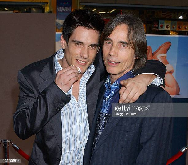 Ethan Browne and dad Jackson Browne during Raising Helen Los Angeles Premiere Arrivals at El Capitan Theatre in Hollywood California United States