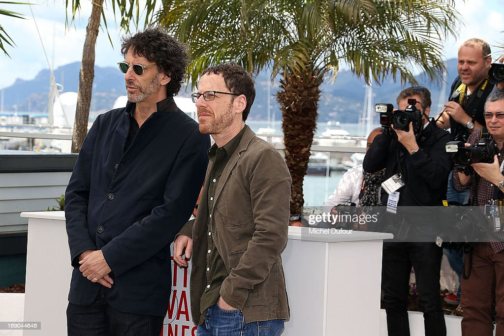 Ethan Coen and Joel Coen attend the 'Inside Llewyn Davis' photocall during the 66th Annual Cannes Film Festival at the Palais des Festivals on May 19, 2013 in Cannes, France.