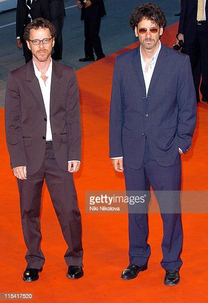 Ethan Coen and Joel Coen during 2005 Venice Film Festival Romance Cigarettes Premiere at Venice Lido in Venice Italy