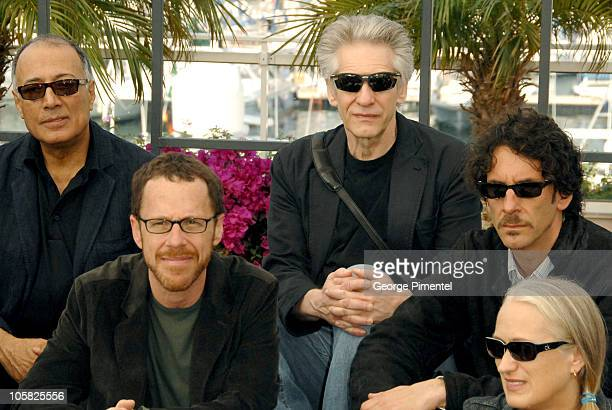 Ethan Coen David Cronenberg and Joel Coen during 2007 Cannes Film Festival Chacun Son Cinema All Directors Photocall at Palais des Festivals in...