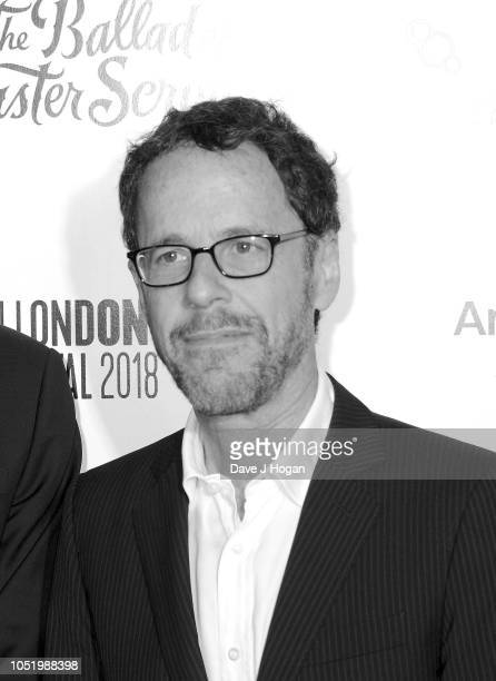Ethan Cohen attends the UK Premiere of 'The Ballad of Buster Scruggs' the American Airlines Gala during the 62nd BFI London Film Festival on at...