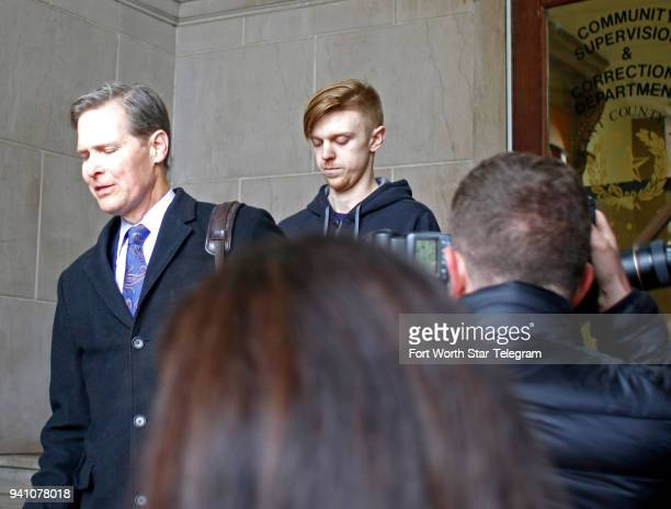 Ethan Couch follows his attorney out of the Tarrant County Corrections Department after his release on Monday April 2 2018