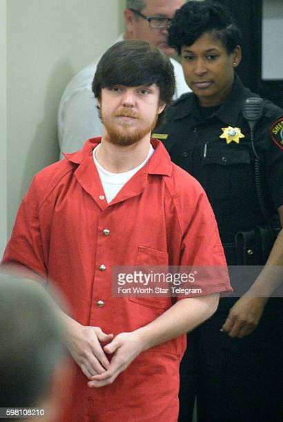 Ethan Couch is brought into Judge Wayne Salvant's court for Couch's adult court hearing at Tim Curry Justice Center on April 13 2016 in Fort Worth...