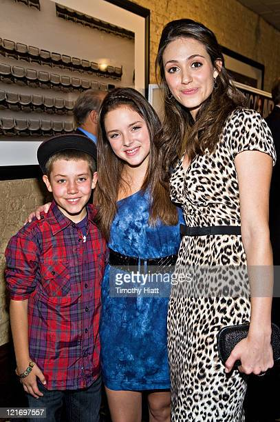 Ethan Cutkosky Madison Davenport and Emmy Rossum attend the Michigan Avenue Magazine's September issue cover party at Harry Caray's Italian...