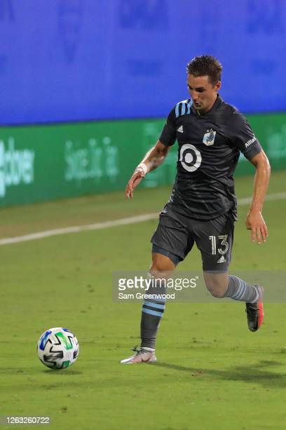 Ethan Finlay of Minnesota United controls the ball during a quarter final match of MLS Is Back Tournament between San Jose Earthquakes and Minnesota...
