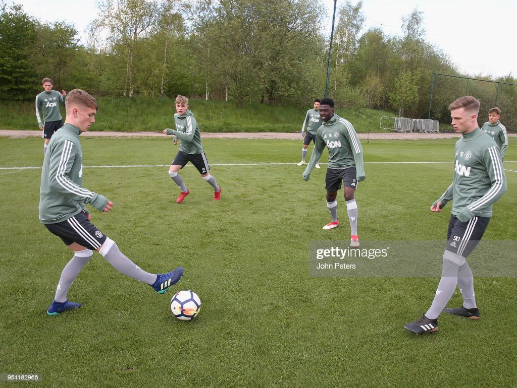 Manchester United U18 Training Session : News Photo