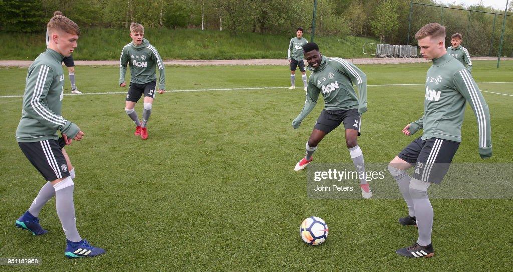 Manchester United U18 Training Session : News Photo