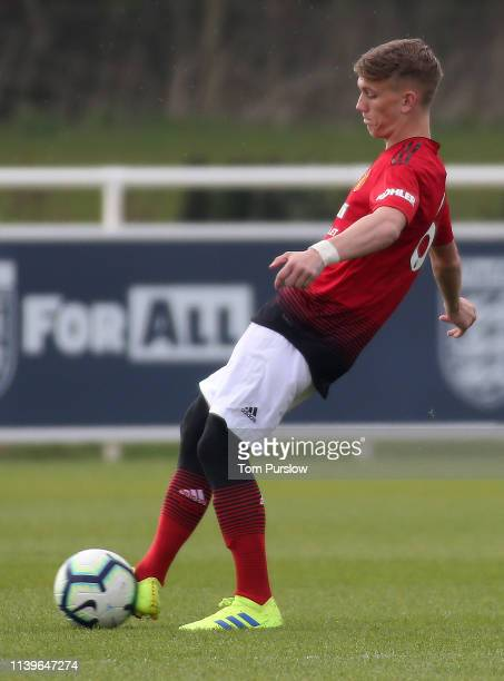 Ethan Galbraith of Manchester United U18s in action during the U18 Premier League match between Wolverhampton Wanderers U18s and Manchester United...