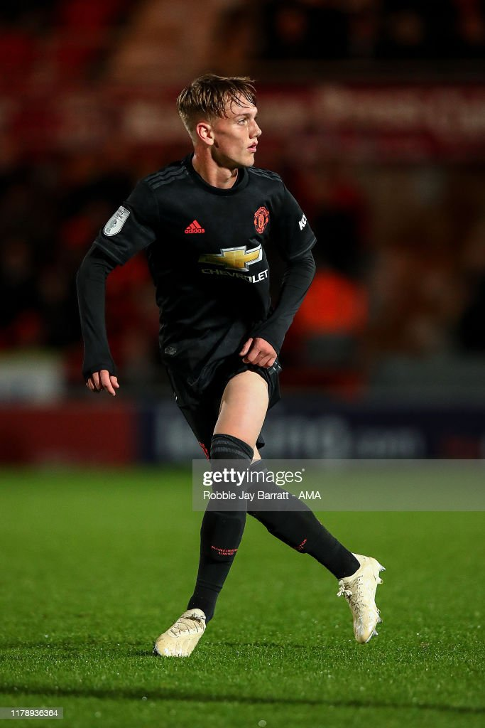 Doncaster Rovers FC v Manchester United U21s  - Leasing.com Trophy : News Photo