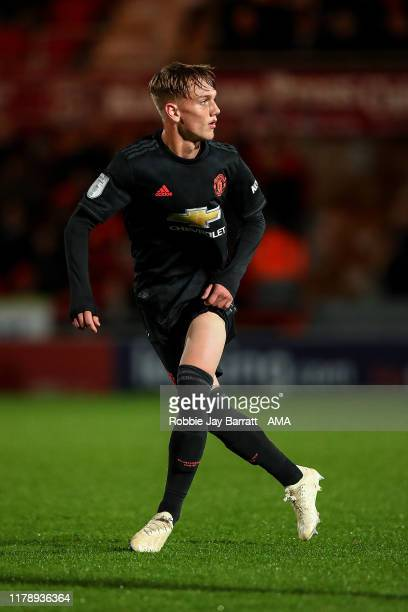 Ethan Galbraith of Manchester United U21 during the Leasingcom Trophy match fixture between Doncaster Rovers and Manchester United U21's at Keepmoat...