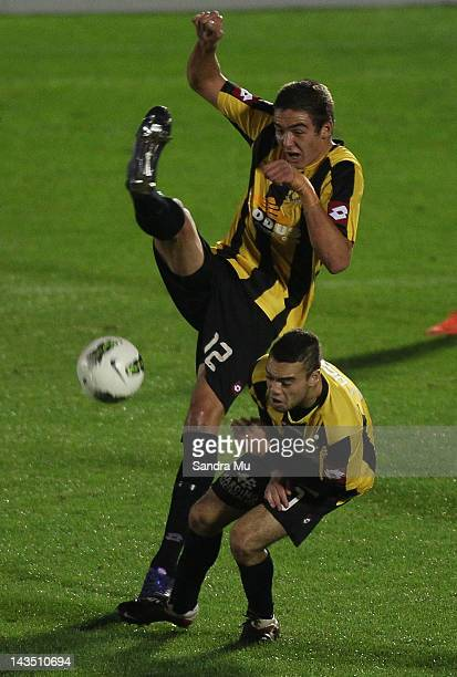 Ethan Galbraith of Wellington kicks during the 2012 ASB Premiership Grand Final match between Waitakere United and Team Wellington at The Trusts...