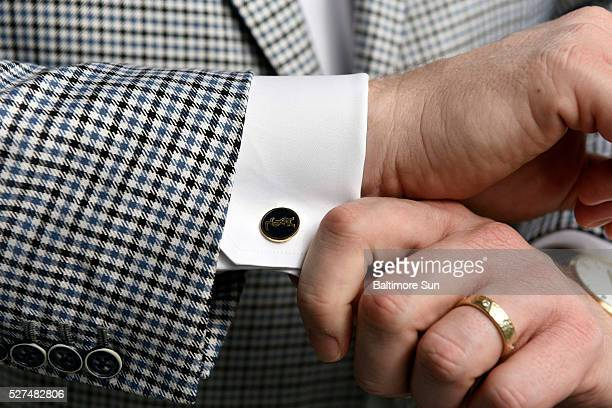 Ethan Giffin CEO of Baltimorebase Groove a marketing a design firm is wearing YSL cufflinks on April 22 2016 'I feel naked if I don't wear a pocket...